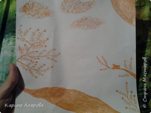 Здравствуйте, вчера нарисовала вот такой рисунок. Больше мне напоминает этот рисунок Китая или Японию. фото 1
