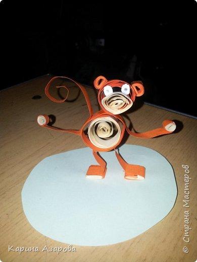 Здравствуйте! Сегодня я покажу вам как сделать обезьяну.  Нам нужно: Полоски для квиллинга  Ножницы Клей фото 1