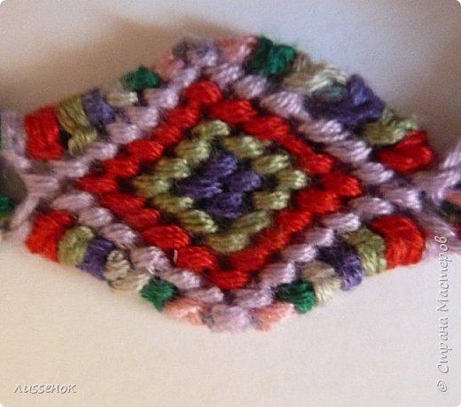 Хорошего всем настроения жители Страны Мастеров! Сегодня я хочу рассказать о плетении классической фенечки - конфетки из 16 нитей. фото 27
