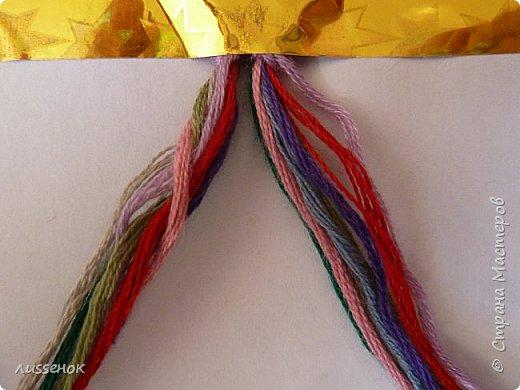 Хорошего всем настроения жители Страны Мастеров! Сегодня я хочу рассказать о плетении классической фенечки - конфетки из 16 нитей. фото 2