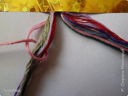 Хорошего всем настроения жители Страны Мастеров! Сегодня я хочу рассказать о плетении классической фенечки - конфетки из 16 нитей. фото 3