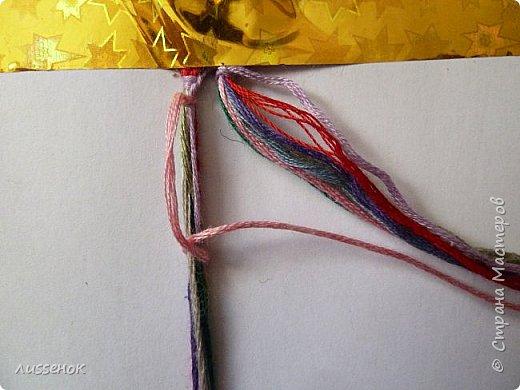 Хорошего всем настроения жители Страны Мастеров! Сегодня я хочу рассказать о плетении классической фенечки - конфетки из 16 нитей. фото 5