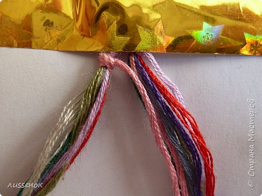 Хорошего всем настроения жители Страны Мастеров! Сегодня я хочу рассказать о плетении классической фенечки - конфетки из 16 нитей. фото 6