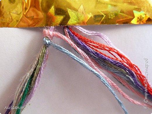 Хорошего всем настроения жители Страны Мастеров! Сегодня я хочу рассказать о плетении классической фенечки - конфетки из 16 нитей. фото 7