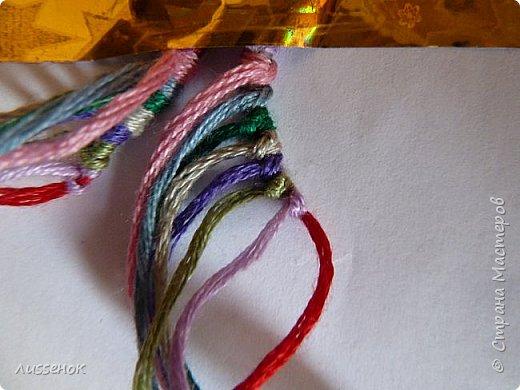 Хорошего всем настроения жители Страны Мастеров! Сегодня я хочу рассказать о плетении классической фенечки - конфетки из 16 нитей. фото 10