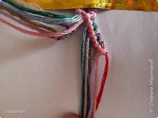 Хорошего всем настроения жители Страны Мастеров! Сегодня я хочу рассказать о плетении классической фенечки - конфетки из 16 нитей. фото 15