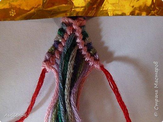 Хорошего всем настроения жители Страны Мастеров! Сегодня я хочу рассказать о плетении классической фенечки - конфетки из 16 нитей. фото 16