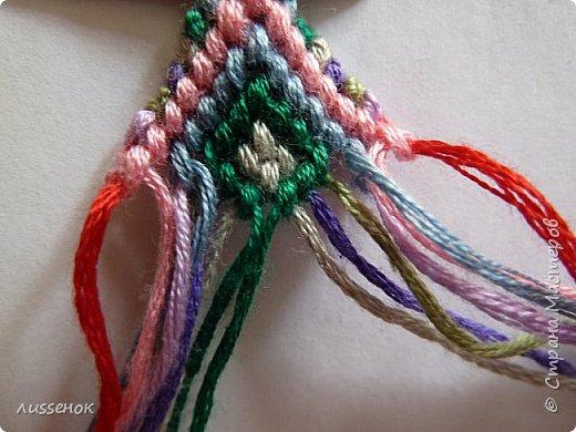 Хорошего всем настроения жители Страны Мастеров! Сегодня я хочу рассказать о плетении классической фенечки - конфетки из 16 нитей. фото 20
