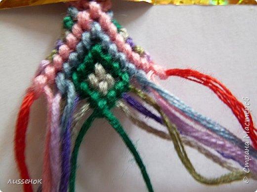 Хорошего всем настроения жители Страны Мастеров! Сегодня я хочу рассказать о плетении классической фенечки - конфетки из 16 нитей. фото 21