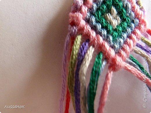 Хорошего всем настроения жители Страны Мастеров! Сегодня я хочу рассказать о плетении классической фенечки - конфетки из 16 нитей. фото 23