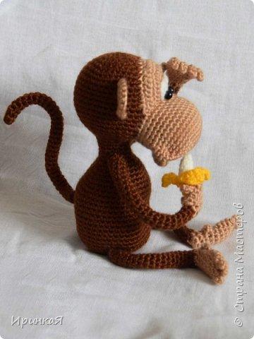Связалась у меня вот такая обезьянка - символ следующего года. Любительница бананов и пошалить))) фото 2