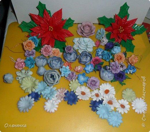 приветствую жителей страны а также гостей ! в своих работах я  в основном использую самодельные цветы  и вот решила показать что я накрутила за последние дни . фото 2