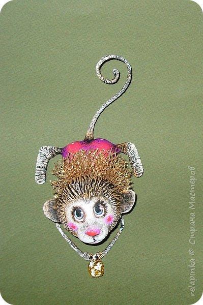 Мастер-класс Поделка изделие Новый год Папье-маше Мастер-класс Обезьянка игрушка на ёлку Бумага фото 1