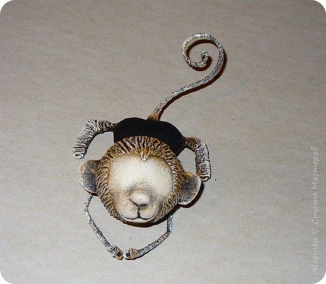 Мастер-класс Поделка изделие Новый год Папье-маше Мастер-класс Обезьянка игрушка на ёлку Бумага фото 25