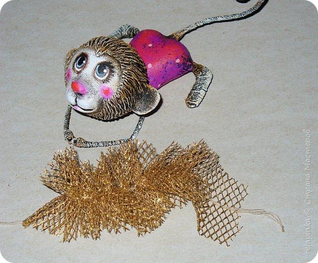 Мастер-класс Поделка изделие Новый год Папье-маше Мастер-класс Обезьянка игрушка на ёлку Бумага фото 27
