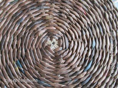 Мастер-класс Поделка изделие Плетение Круглое дно- звездочка Трубочки бумажные фото 16