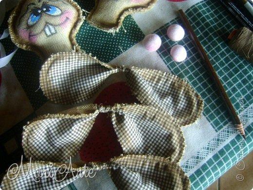 Интерьер Мастер-класс Шитьё Зайчиха с зайчатами М К Клей Краска Нитки Ткань фото 24