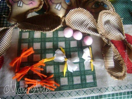 Интерьер Мастер-класс Шитьё Зайчиха с зайчатами М К Клей Краска Нитки Ткань фото 25