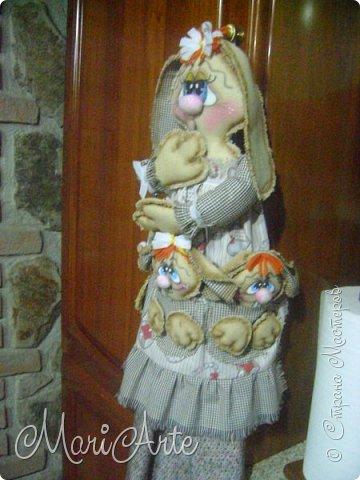 Интерьер Мастер-класс Шитьё Зайчиха с зайчатами М К Клей Краска Нитки Ткань фото 52