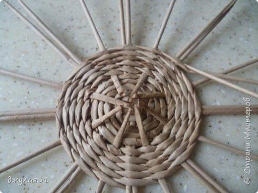 Мастер-класс Поделка изделие Плетение Плетеные кружки как их делела я    Трубочки бумажные фото 7