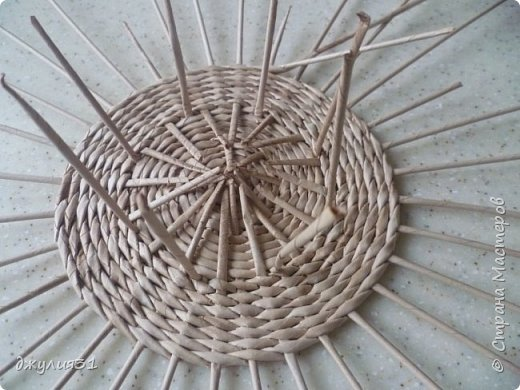 Мастер-класс Поделка изделие Плетение Плетеные кружки как их делела я    Трубочки бумажные фото 10