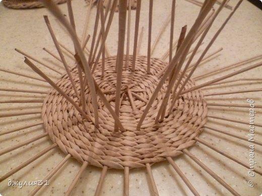 Мастер-класс Поделка изделие Плетение Плетеные кружки как их делела я    Трубочки бумажные фото 13