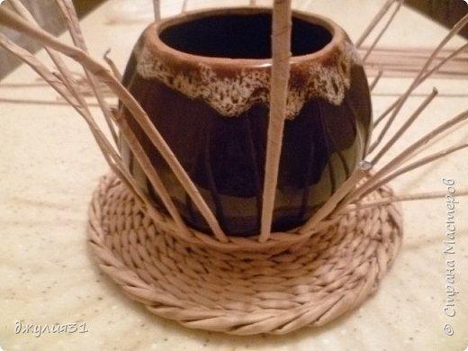 Мастер-класс Поделка изделие Плетение Плетеные кружки как их делела я    Трубочки бумажные фото 18