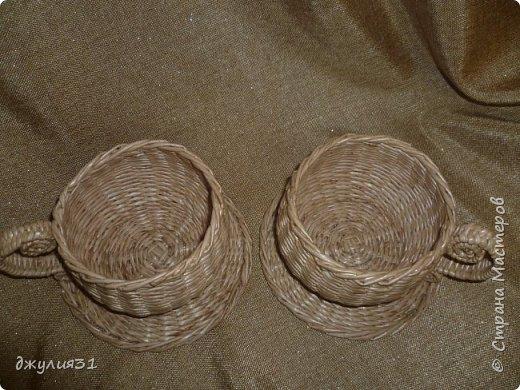 Мастер-класс Поделка изделие Плетение Плетеные кружки как их делела я    Трубочки бумажные фото 20