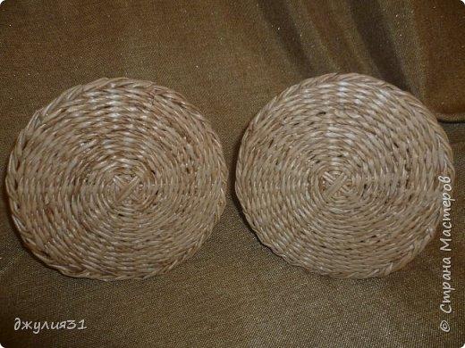 Мастер-класс Поделка изделие Плетение Плетеные кружки как их делела я    Трубочки бумажные фото 21