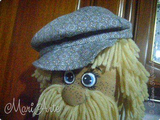 """Здравствуйте всем !!   Сегодня покажу как я шью кепочки для своих """"мужчин-кукол"""" )))  фото 33"""