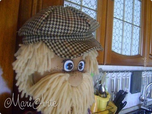 """Здравствуйте всем !!   Сегодня покажу как я шью кепочки для своих """"мужчин-кукол"""" )))  фото 34"""
