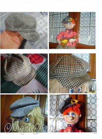 """Здравствуйте всем !!   Сегодня покажу как я шью кепочки для своих """"мужчин-кукол"""" )))  фото 39"""