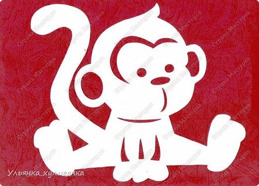 новый год обезьяны рисунок