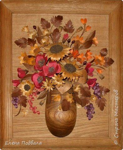 Полевые цветы. Деревянный шпон, природный материал. фото 1