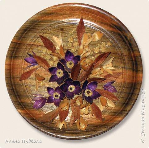 Полевые цветы. Деревянный шпон, природный материал. фото 4