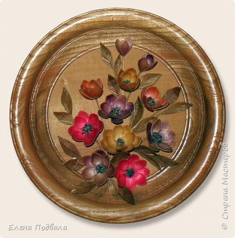 Полевые цветы. Деревянный шпон, природный материал. фото 5
