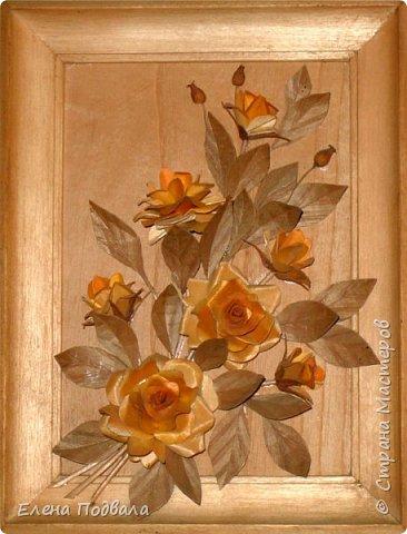 Полевые цветы. Деревянный шпон, природный материал. фото 7