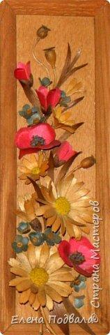 Полевые цветы. Деревянный шпон, природный материал. фото 8