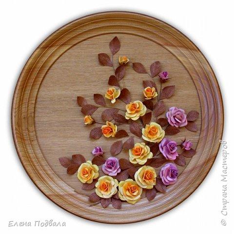Полевые цветы. Деревянный шпон, природный материал. фото 10