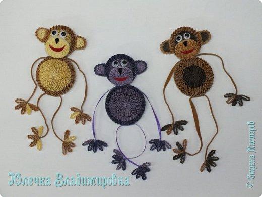 Новый год к нам мчится! Знакомьтесь, хозяйка наступающего года - Озорница-обезьянка! Предлагаю мастер-класс для начинающих и желающих попробовать себя в работе с интересной техникой - гофроквиллинг. фото 34