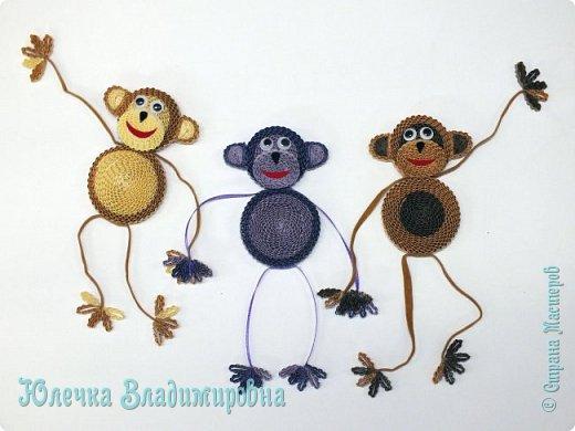 Новый год к нам мчится! Знакомьтесь, хозяйка наступающего года - Озорница-обезьянка! Предлагаю мастер-класс для начинающих и желающих попробовать себя в работе с интересной техникой - гофроквиллинг. фото 2