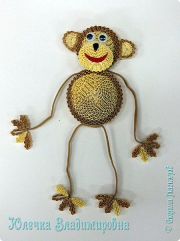 Новый год к нам мчится! Знакомьтесь, хозяйка наступающего года - Озорница-обезьянка! Предлагаю мастер-класс для начинающих и желающих попробовать себя в работе с интересной техникой - гофроквиллинг. фото 1
