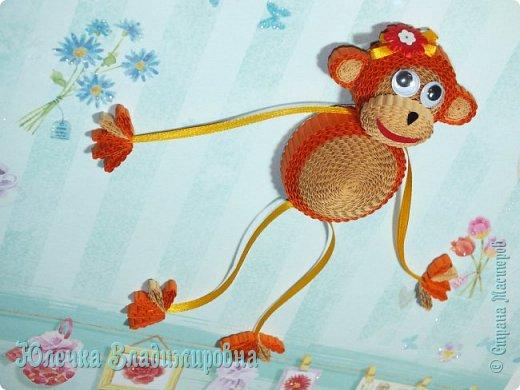 Новый год к нам мчится! Знакомьтесь, хозяйка наступающего года - Озорница-обезьянка! Предлагаю мастер-класс для начинающих и желающих попробовать себя в работе с интересной техникой - гофроквиллинг. фото 33