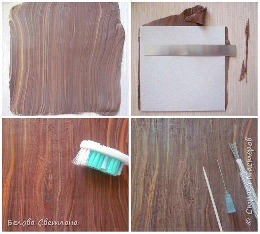 Сегодня я покажу вам некоторые этапы создания панно «Грибная история» из полимерной глины. Для работы нам понадобятся: полимерная глина (запекаемая), скалка или паста-машина, иголочка, зубочистка, резак, краски акриловые, лак глянцевый, зубная щётка и наши волшебные руки и фантазия! фото 4