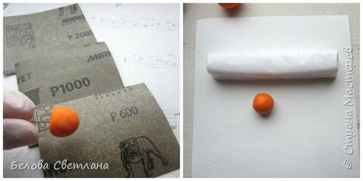 Мастер-класс Украшение Лепка Физалис из полимерной глины Пластика фото 4