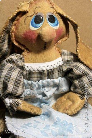 Доброго вечера всем!! Очаровали меня куклы Марианны(MariArte ) - МК здесь - https://stranamasterov.ru/node/972914  Вот и моя зайка - пакетница.. Кофейная красавица.. фото 3