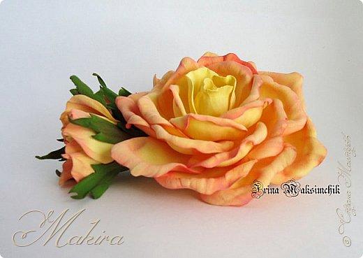 Роза - заколка из фоамирана фото 1