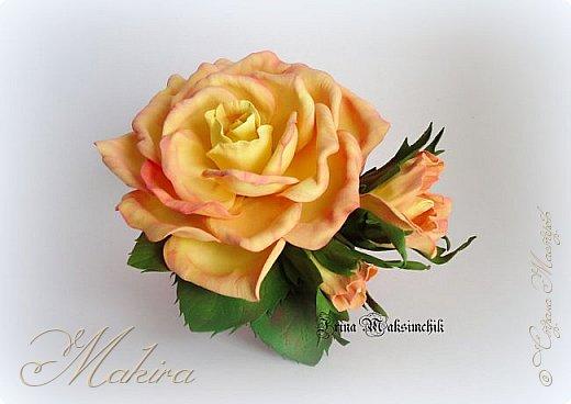Роза - заколка из фоамирана фото 2