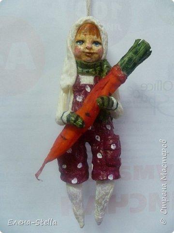 Зайчик из ваты (13 см) Для маленькой девочки, которая его очень ждет! фото 1