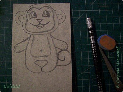 Доброго времени суток, жители страны мастеров! Уже какую неделю наблюдаю нашествие хвостатых обезьян на нашем сайте и вот теперь хочу предложить свой вариант обезьянки- магнита. Мне надо было придумать простой и быстрый вариант изготовления, чтобы могли справиться дети. фото 3